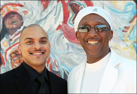 Irvin Mayfield, left, and Bill Summers of Los Hombres Calientes.