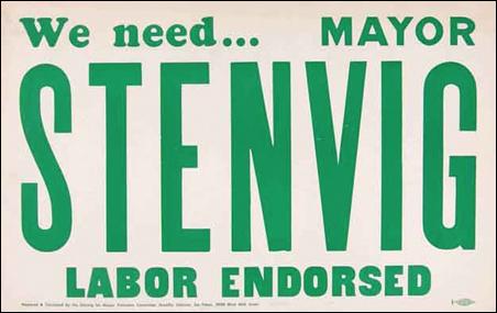 Stenvig campaign poster