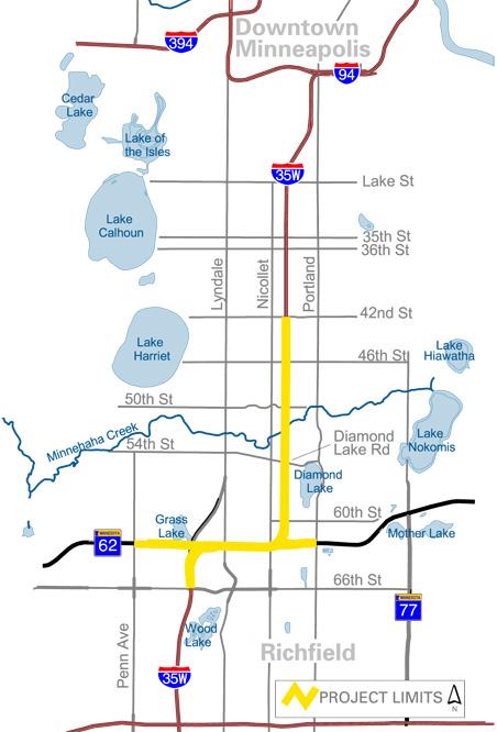 Crosstown reconstruction map