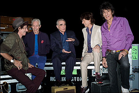 Director Martin Scorsese jams with the Stones.