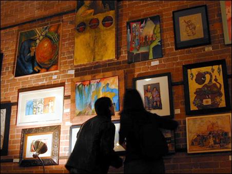 Art for sale on the Tilsner's walls