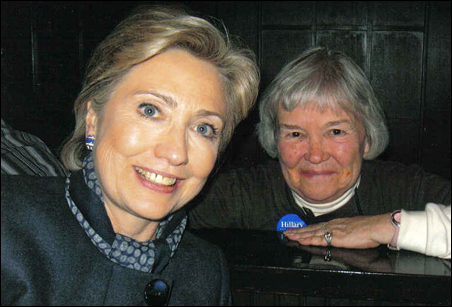 Sen. Clinton and Jackie Stevenson
