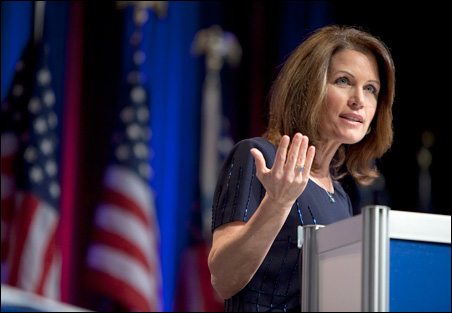 Rep. Michele Bachmann speaks to the Conservative Political Action Conference (CPAC) during their annual meeting on Friday.