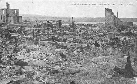 Ruins of Chisholm after fire.