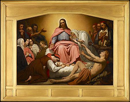 """Christus Consolator"" by Ary Scheffer, oil on canvas, 1851."