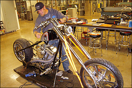 Tommy Creal with chopper