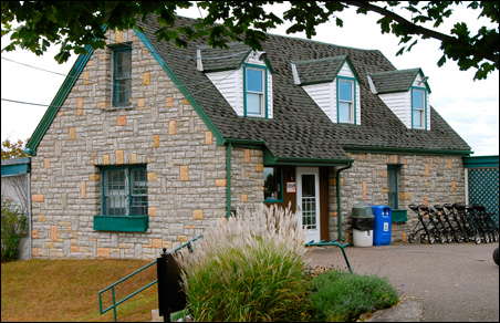 The little stone pro shop building next to the first tee. They don't build them like this anymore.