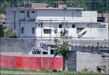 Exterior shot of the bin Laden compound in Abbotabad, Pakistan.