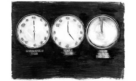 Ruthann Godollei, Time Change 2, 2008, digital inkjet print.