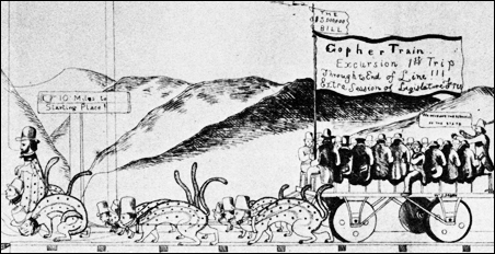 The widely circulated cartoon that led to our nickname of Gopher State.