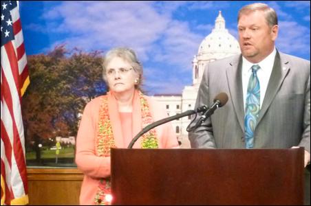 DFL Sens. Linda Berglin and Tom Bakk lambaste  the GOP's budget package.