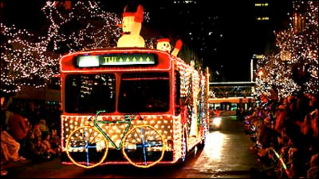 The Metro Transit Twinkle Bus was added to the parade a few years ago.
