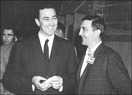 Eugene McCarthy and Gerald Heaney shown in a 1958 photo.