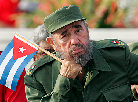 Cuban President Fidel Castro at a May Day event in 2005 in Havana.