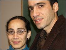 Yanelquis Acosta, left, and Adalberto Torres
