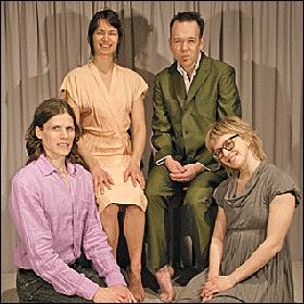 Justin Jones, front left, with Pinhead members Anna Marie Shogren, Sarah Baumert and Dylan Skybrook