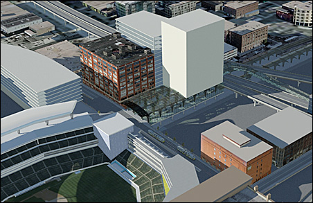 Expanded view of northwest overbuild option.