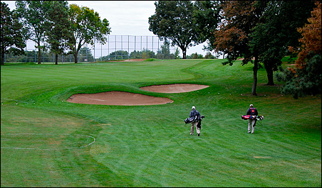 The opening hole at Keller Golf Course.