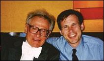 Stanislaw Skrowaczewski, left, with the author, Frederick Harris