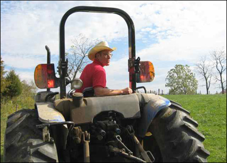 Joel Salatin uses few petrochemicals, except to power his tractor.