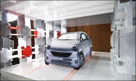 Wessel's model of the carport plus recharging electric car.