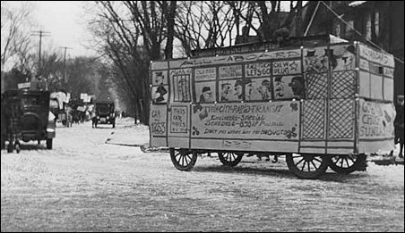 A float in the 1920 St. Patrick's Day parade on the University of Minnesota campus.