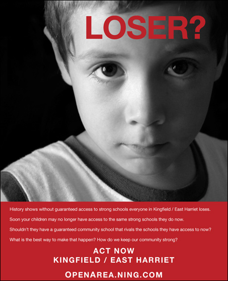 """The controversial """"Loser?"""" poster"""
