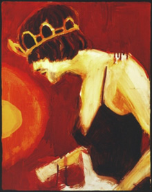 """Elizabeth Peyton, """"Princess Kurt,"""" 1995. Oil on linen, 14"""" x 11-3/4""""."""