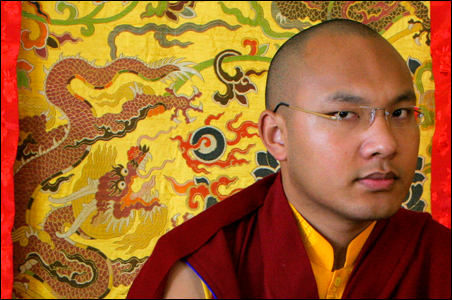 Karmapa Lama, the third highest ranking Lama, pauses during an interview with Reuters in the northern Indian hill town of Dharamsala.