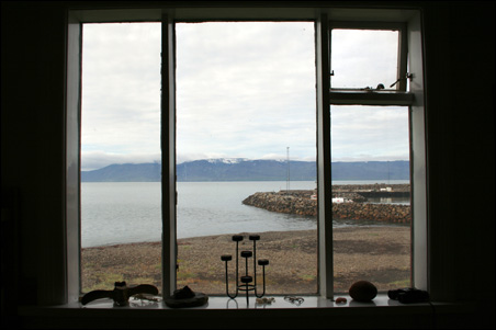 The main window in Brimnes overlooking the fjord.