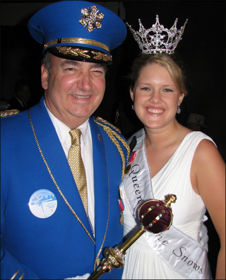 King Boreas (Bill Foussard) and the Queen of the Snows (Brooke Stoeckel) reign over the St. Paul Winter Carnival.