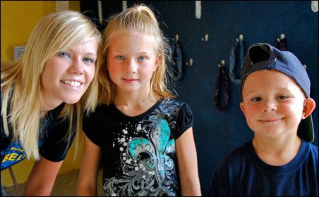 From left to right: Kaitlin Van Horn, Grace Mortenson, Cowan Mortenson