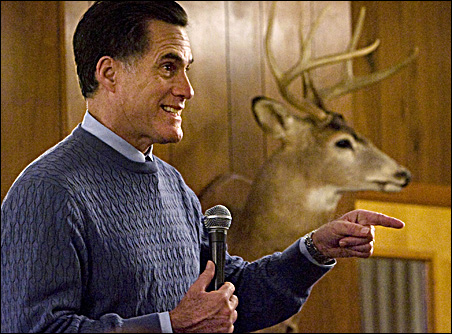 Republican presidential candidate and former Massachusetts Governor Mitt Romney