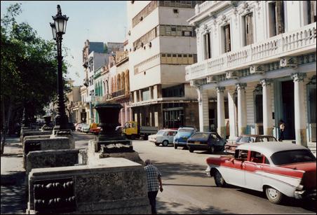 A street in Havana in 2002 looks more like a scene from the 1950s.