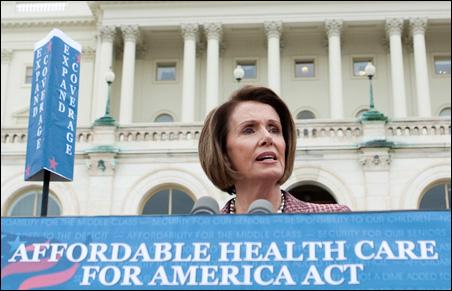 House Speaker Nancy Pelosi unveils the House Democrat's healthcare plan, Thursday, Oct. 29, 2009.