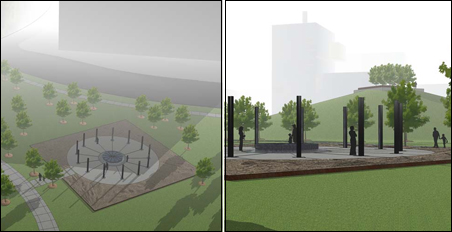 A Remembrance Garden will pay tribute to the 13 who died in the bridge's collapse.