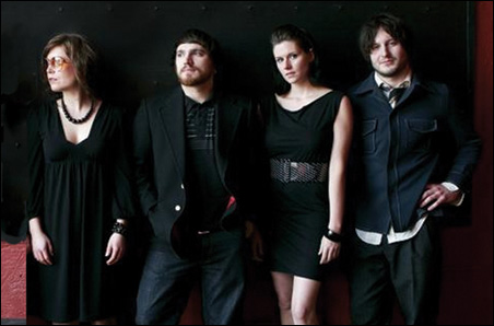 The band, from left to right: Laura Meloy, Jeff Marcovis, Katie Marshall and Jacob Grun. Not pictured: bassist Scott McVeigh.