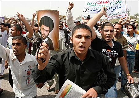 Basra protesters
