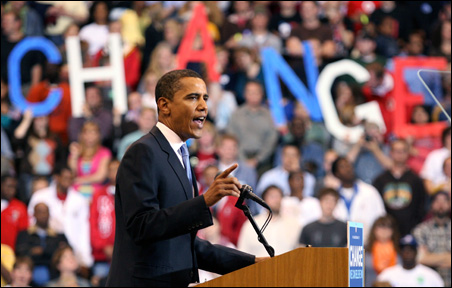 Barack Obama at the Xcel Energy Center in St. Paul Tuesday night: He spoke with passion and authority.