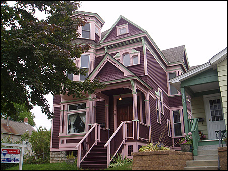 One block from the house above is a beautiful Victorian 3-bedroom, 3-bath not on the tour, but for sale for $249,000.