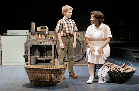 """Noah Coon (Noah Gellman) and Greta Oglesby (Caroline Thibodeaux) in the Guthrie Theater production of """"Caroline, or Change."""""""