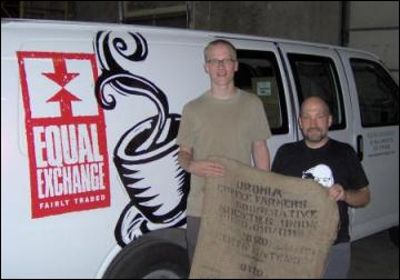 "Joe Riemann and Scott Patterson of Equal Exchange, the fair trade food cooperative, which recently started selling coffee labeled ""Oromia"" instead of ""Ethiopia."""