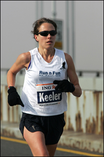 Kelly Keeler came late to the games, but she's running in the More marathon in New York City on Sunday.
