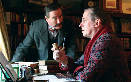 """Bob Davis, left, plays Dr. Watson, and Steve Hendrickson is Holmes in Park Square Theatre's """"Sherlock Holmes: The Final Adventure."""""""