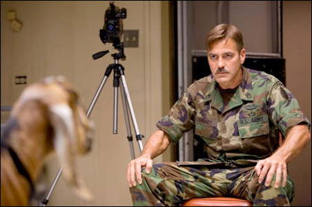 """George Clooney in a scene from the new motion picture """"The Men Who Stare at Goats."""""""