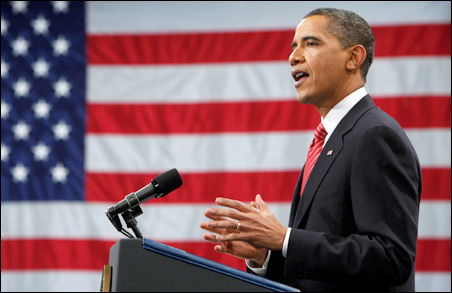 President Obama speaks to cadets during an address Tuesday at the U.S. Military Academy in West Point, New York.