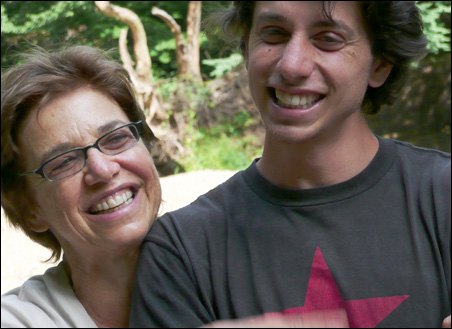 Josh Fattal, right, is seen here with his mother Laura Fattal in this undated photo released by freethehikers.org, August 20, 2009.