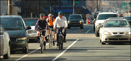 Bike commuters in Minneapolis, America's most bike-friendly city
