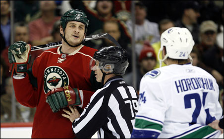 Players like Derek Boogaard — ones who do not have the speed or the skills to be drafted onto a professional team for their goal-scoring abilities — are groomed from an early age to fight on the ice.
