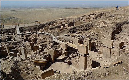 Only this part of Göbekli Tepe has been unearthed.